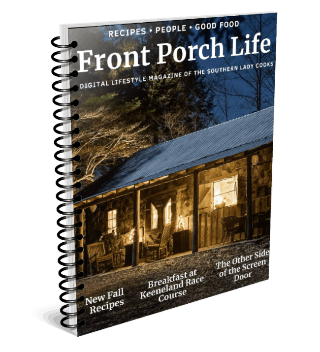 Cover of Front Porch Life Magazine which features The General's Cabin, Red River Gorge Cabin Rental on the cover.